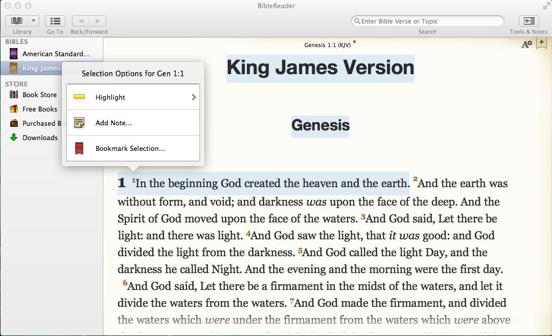 OliveTree BibleReader Features