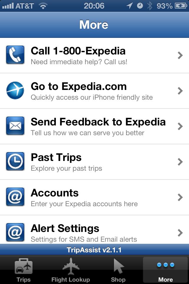 Expedia TripAssist for iPhone