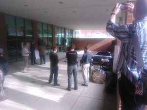 Picture of me taking a picture of Sprint Zero of the Wikispeed workshop courtesy Elinor Slomba of Arts Interstices.